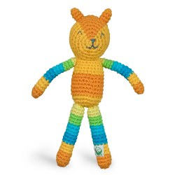 Animal Rattle Orange Bear
