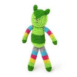 Animal Rattle Green Fox