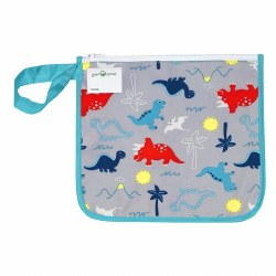Insulated Snack Bag Aqua Dino