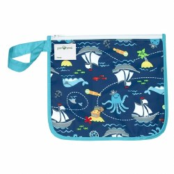 Insulated Snack Bag Aqua Pirate