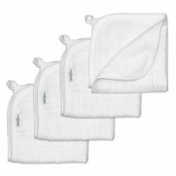 Muslin Washcloths White