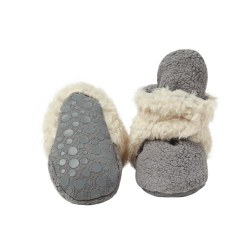 Gripper Booties Furry Grey 24m