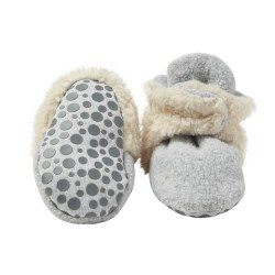 Cozie Furry Gripper Heather Grey 18m