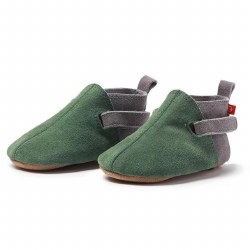 Suede Bootie Green/Grey 6m