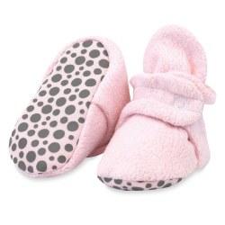 Cozie Gripper Booties Pink 12m