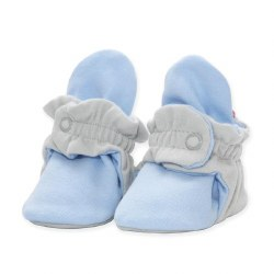 Cotton Booties Grey/Blue 6m