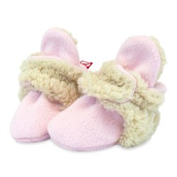 Furry Lined Bootie Baby Pink 3
