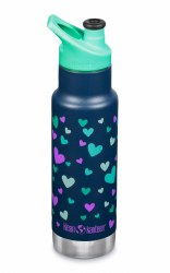 12oz Insulated Navy Hearts