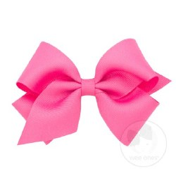 Small Grosgrain Bow Hot Pink