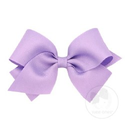 Small Grosgrain Bow Light Orchid