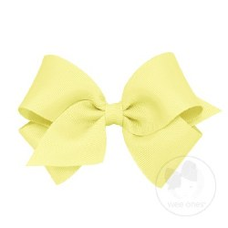 Small Grosgrain Bow Light Yellow