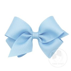 Small Grosgrain Bow Millennium Blue