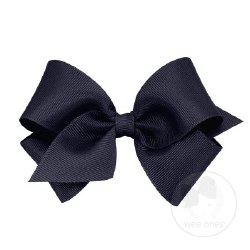 Small Grosgrain Bow Navy