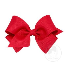Small Grosgrain Bow Red