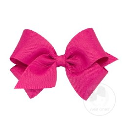 Small Grosgrain Bow Shocking Pink