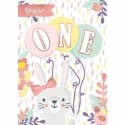 Age 1 Bunny 3D Card