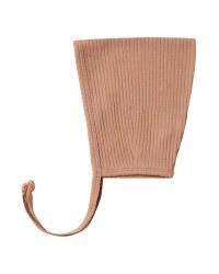 Pixie Bonnet Terracotta 3-6m