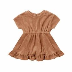 Terry Dress Terracotta 12-18m