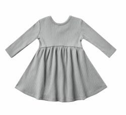 Ribbled Dress Dusty Blue 2-3Y