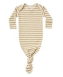 Ribbed Knotted Gown Honey Stripe