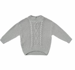 Cable Knit Sweater Dusty Blue 18-24m