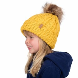 Cable Knit Beanie Mustard Medi