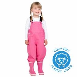 Cozy Dry Rain Bibs Pink 2T