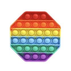 OMG Pop Fidgety Octagon Rainbow