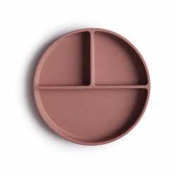 Silicone Suction Plate Mauve