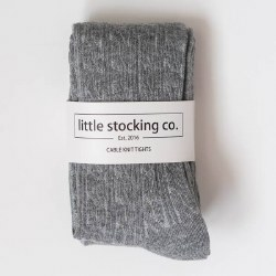 Cable Knit Tights Grey 3-4Y