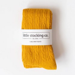 Cable Knit Tights Marigold 3-4Y
