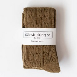 Cable Knit Tights Olive 0-6m