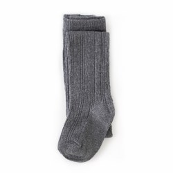 Cable Knit Tights Charcoal 0-6m