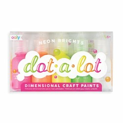 Dot-A-Lot Craft Paint Neon Brights