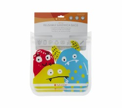 Ziptuck Sandwich Bags Monster
