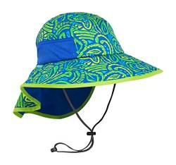 Kids' Play Hat Large Green Fossils