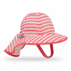 Infant Sunsprout Hat Coral Stripe