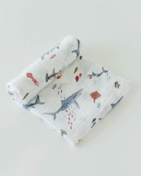 Muslin Swaddle Shark