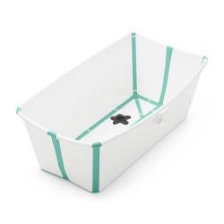 Flexi Bath White/Aqua