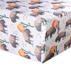 Premium Crib Sheet Bison