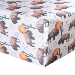 Premium Crib Sheet Bison