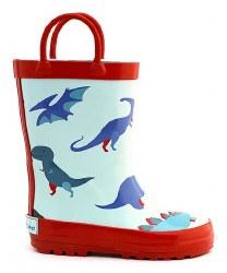 Rain Boots Red Dino 10
