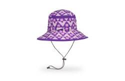 Kids' Bucket Hat Large Purple Dotamids