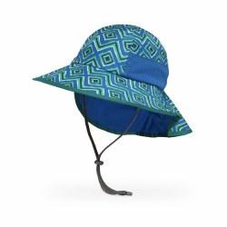 Kids' Play Hat Medium Blue Geodes