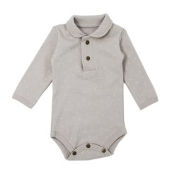 Polo Bodysuit Pebble Dots 3-6m