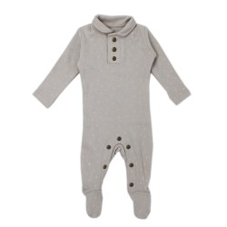 Polo Overall Pebble Dots Preemie