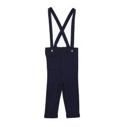 Suspender Pants Navy 9-12m