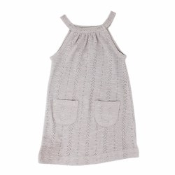 Pointelle Halter Dress Gray 2T