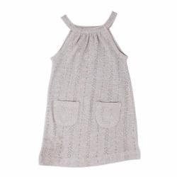 Pointelle Halter Dress Gray 2T