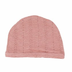 Pointelle Hat Mauve 3-6m
